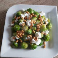 Koolhydraatarm vegetarisch recept met spruitjes