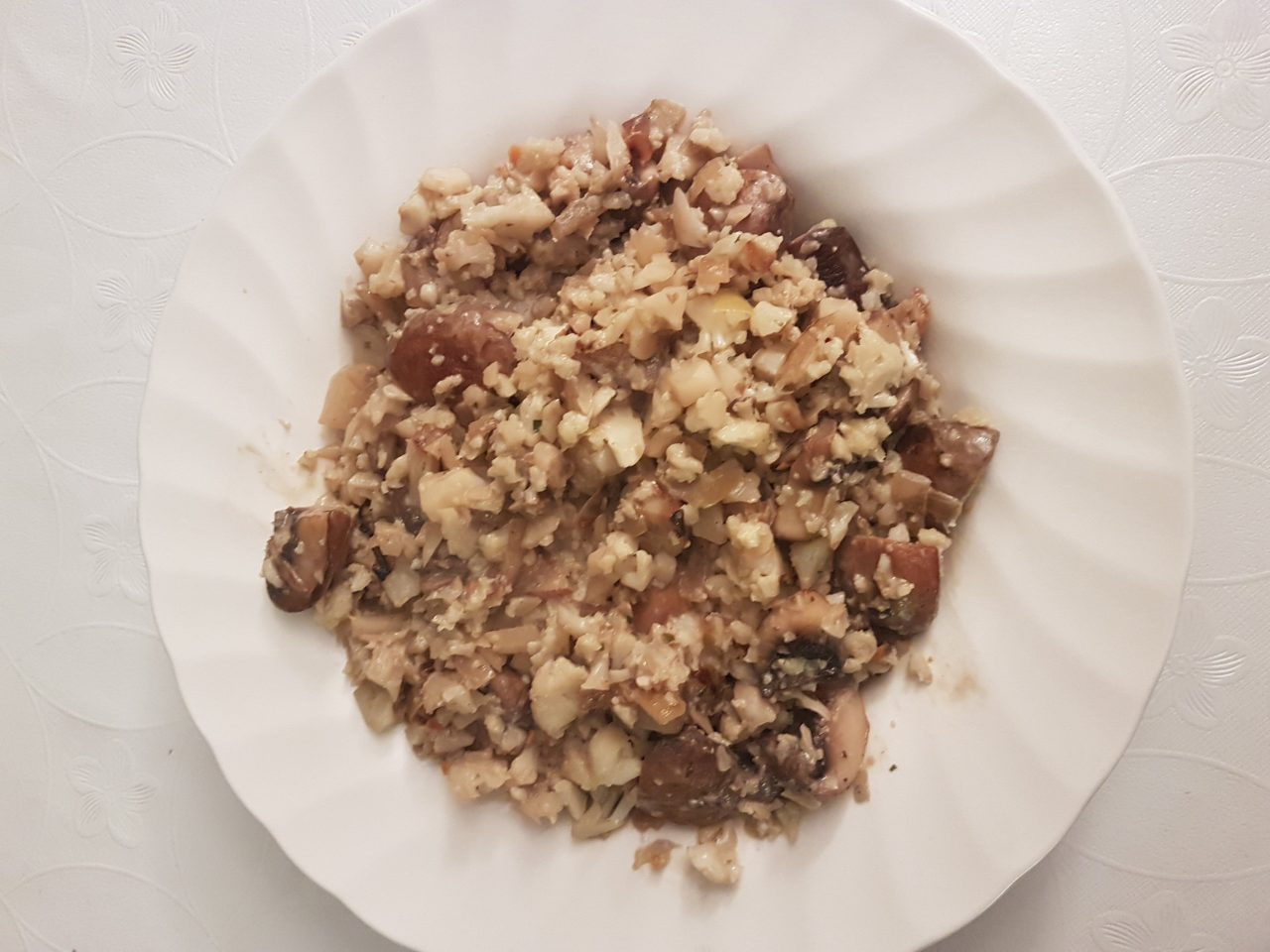 koolhydraatarme champignon risotto