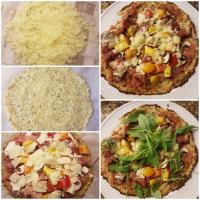 Koolhydraatarme Pizza met bloemkool bodem