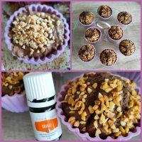 Koolhydraatarme sinaasappel chocolade muffin